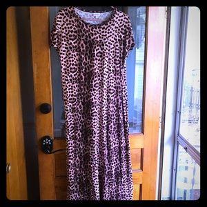Lularoe Maria Maxi dress leopard print medium